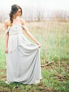 Pale blue gown: http://www.stylemepretty.com/2014/11/04/neutral-elegant-bridal-inspiration/ | Photography: Kate Weinstein - http://www.kateweinsteinphoto.com/