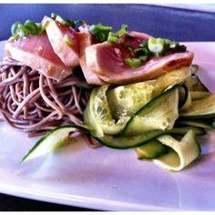 Tuna Tataki and Soba Noodle Salad @ Foo Food