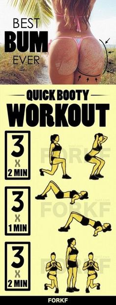 Quick Booty Workout | Posted By: CustomWeightLossProgram.com