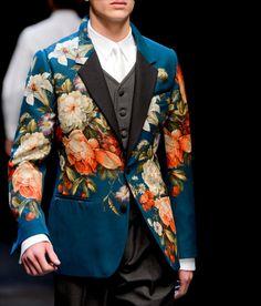 Dolce & Gabbana (Autumn - Winter menswear, catwalk) - Milan Fashion Week (Catwalks & Presentations) - Autumn -Winter (m. Dolce & Gabbana, Dandy Style, Fashion Show, Mens Fashion, Milan Fashion, Fashion Menswear, Retro Mode, Mode Inspiration, Mode Style