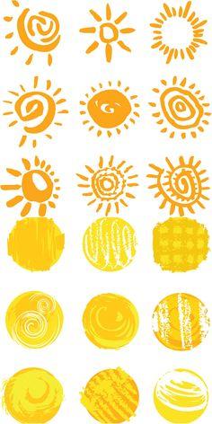 Various Sun templates vector
