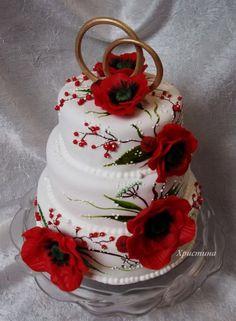 Весільні торти-2. » Кулінарний форум Дрімфуд » Сторінка 10 Beautiful Wedding Cakes, Beautiful Cakes, Amazing Cakes, Cupcakes, Cupcake Cakes, Different Types Of Cakes, Poppy Cake, Burgundy Wedding Cake, Cakes For Women
