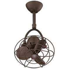 "13"" Diane Textured Bronze Metal Blades Ceiling Fan"