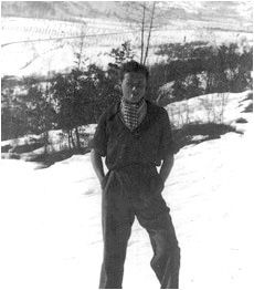 Norhtern Italy, 1944. A Jewish partisan in the Italian First Alpine Division, Harry Burger used his fluency in German to interrogate captured soldiers. One of the division's most important tasks was the sabotage of German electric capabilities in Northern Italy, where the destruction of local power plants seriously hindered German mobility.