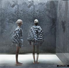 'Object 12-1′ Experimental Fashion Collection // Matija Čop - 3D sculptural design, textile structures