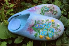 Hey, I found this really awesome Etsy listing at https://www.etsy.com/listing/196702826/blue-felted-house-shoes-repeat-1-indoor
