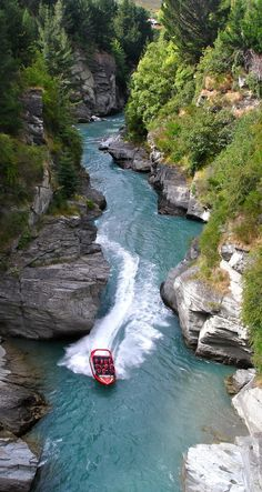 Jet Boating the Shotover River Canyons, Queenstown - NZ