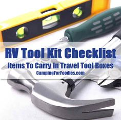 Our FREE printable RV tool kit checklist is comprehensive to ensure travel tool boxes are suitably stocked. Be prepared when on the go with moving parts