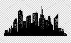 City skyline in grey colors. Vector illustration on transparrent background Фото со стока - 66867498 Cityscape Silhouette, Building Silhouette, Landscape Silhouette, Silhouette Painting, Silhouette Vector, Minimalistic Style, Easy Zentangle Patterns, Rain Wallpapers, Building Painting