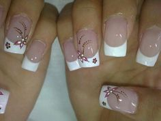 55 Ideas for nails art french bianco French Manicure Nails, Diy Nails, Cute Nails, Nail Pictures, Nail Photos, Long Pictures, Nail Designs Spring, Nail Art Designs, Nails Design