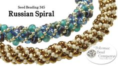 Video: Make a Russian Spiral (Bracelet or Necklace) #Seed #Bead #Tutorials