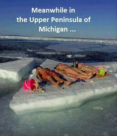 Michigan upper peninsula.  We saw an incredible amount of ice on L'Anse Bay the 29th of May 2014.