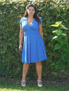 Women's Vintage Look Plus Size Dress