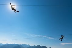 ZIPLINE Slovenia. One of the biggest Zipline park in Europe and by far the biggest one in Slovenia, stretching above Bovec valley, between Kanin and Rombon