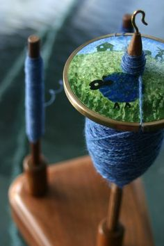 custom sheep drop-spindle.  Wonderful!