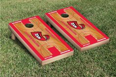 Our Western Kentucky Hilltoppers Cornhole Game Set Basketball Version. Get your custom set at victorytailgate.com