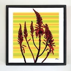 "Overflow series: ""Wild Red"" 24 x 24 inch, digital art & gloss and matte gel on stretched canvas. 26.5 x 26.5 inch, float frame - black flat. ---------------------------------------- #popart #popartist #digitalart #contemporaryart #colorfield #abstractart #gloss #matte #art #canvas #jonsavagegallery"