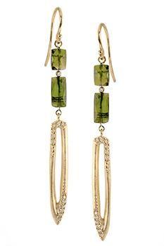 Our Unique Green Tourmaline And Diamond Earrings Will Sure Dazzle You Diamonds