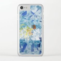 Celebration Clear iPhone Case - Celebrate the little things. This colorful design was created to celebrate the first day of some unexpected time off. Let this fun art abstract be a continual reminder to you to enjoy every moment possible.