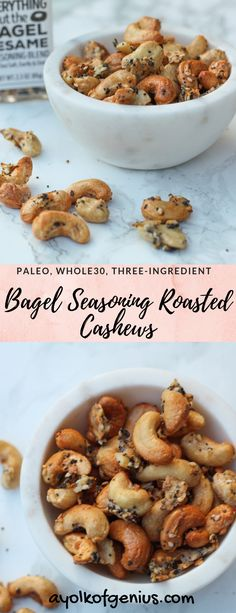Bagel Seasoning Roasted Cashews Cashew Recipes, Roast Recipes, Roasted Cashews, Roasted Nuts, Raw Cashews, Appetizer Recipes, Snack Recipes, Appetizers