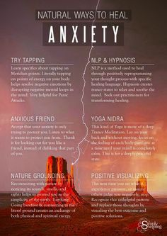 6 Ways to Heal Anxiety Naturally Choosing to face Anxiety without medicating can be done! This supportive guide reveals easy methods used to stop worry and anxiety.