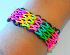 Tutoriel : réaliser un bracelet élastique manchette avec une seule machi...