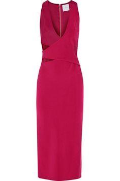 DION LEE Cutout Scuba-Paneled Stretch-Ponte Midi Dress. #dionlee #cloth #dresses