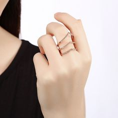 Fashion Rings for Women Rose Gold Silver Color Anel Spinner Ring Unique Vintage rings for women Wedding Jewelry 2017 New Arrival Colored Engagement Rings, Engagement Jewelry, Wedding Jewelry, Rose Gold Color, Silver Color, Wholesale Roses, Romantic Roses, Cubic Zirconia Rings, Gold Plated Rings