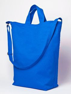 Utility Tote tutorial (like that the top has a zipper closure instead of being open and that two different integrated handles lets you carry as needed)