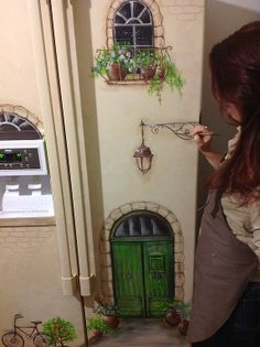 fridge....Роспись на холодильнике