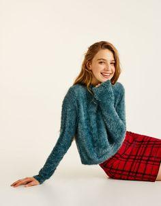 :Soft faux fur sweater