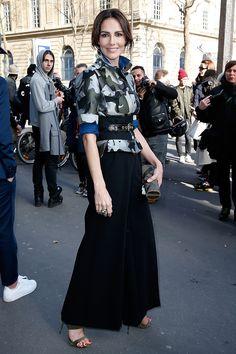 Adriana Abascal y el camuflaje militar