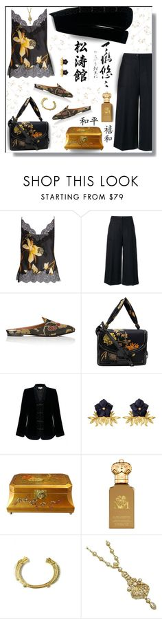 """Statement Bag"" by outfitsloveyou ❤ liked on Polyvore featuring Carine Gilson, Kenzo, Aquazzura, Delvaux, EAST, Tessa Packard, Clive Christian, Mirabelle and Graham & Brown"