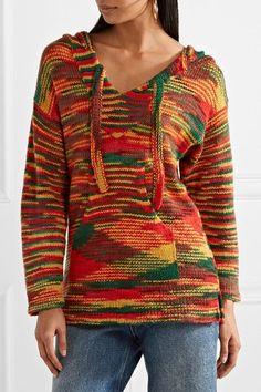 The Elder Statesman - Baja Hooded Cashmere Sweater - Red