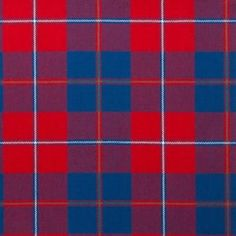 Galloway Red Lightweight Tartan by the meter – Tartan Shop