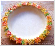 fall decorated pie crust