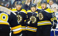 Chris Kelly, Andrew Ference, Milan Lucic