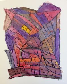 """Spire Artist Kevin Richardson.  abstract watercolor on paper  20x25"""" $36.47  (#635).  .Visit our website to learn more about our program or how to purchase art. http://www.mcbdds.org/419/Spire-Arts"""