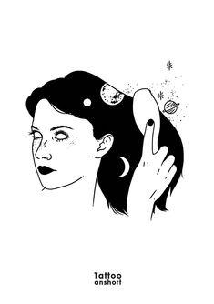 Pour toute commande ou pour rés - anshort   ello  by Anshort Paris Dark Drawings, Outline Drawings, Outline Designs, Illustration Art Drawing, T Art, White Art, Comic Books Art, Erotic Art, Aesthetic Art