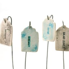 Garden stakes! Hey, I found this really awesome Etsy listing at https://www.etsy.com/listing/77604608/herb-or-vegetable-plant-label-porcelain