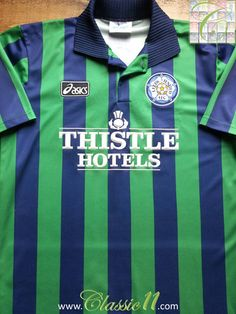 0925e7bf154 Relive Leeds United s 1993 1994 season with this vintage 3rd kit football  shirt. Football