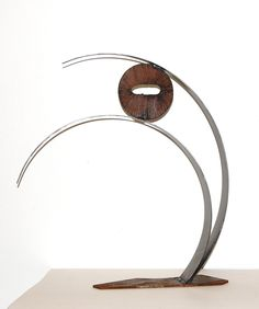 Abstract Steel Sculpture, Minimalist Decor, Zen Sculpture, Recycled Steel Sculpture, Garden Decor, Outdoor Art, Rustic Modern. $165.00, via Etsy.