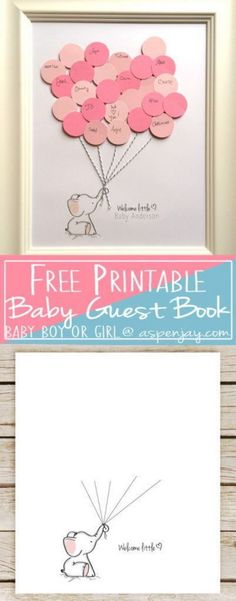 1 DIY Balloon Elephant Baby Shower Guest Book And Free Printable