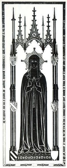 Brass Rubbing of Alianora de Bohun, Duchess of Gloucester - Westminster Abbey, London - Died 1399