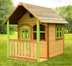 laura ist ein mittelgroßes holz-spielhaus mit einer veranda, Schlafzimmer design