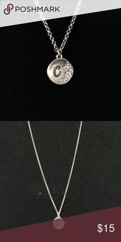 "Lia Sophia: NWOT initial necklace 16"" w/ 3"" extender Lia Sophia Jewelry Necklaces"
