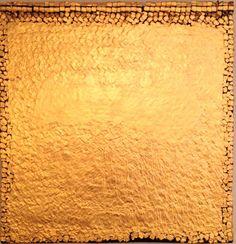 Olga de Amaral, SOL CUADRADO 13 - 1994 Fiber, gesso, acrylic paint, gold leaf