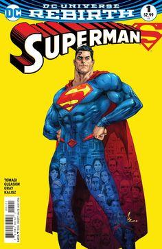Superman Rebirth DC Comics 2016 Print NM for sale online Superman Family, Superman Man Of Steel, Superman Comic, Superman Stuff, Batgirl, Supergirl, Lois Lane, Comic Book Covers, Comic Books Art