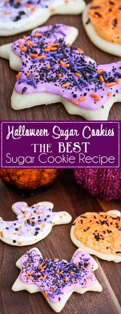 Halloween Sugar Cookies- The BEST Sugar Cookie Recipe on MyRecipeMagic.com