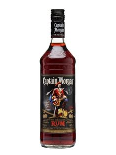 Captain Morgan Rum : Buy Online - The Whisky Exchange - World-famous dark rum named after Captain Henry Morgan, the famous Welsh swashbuckler who became the governor of Jamaica. Henry Morgan, Havana Club, Jamaica, Barbados, Rum Bottle, Whiskey Bottle, Fun Drinks, Alcoholic Drinks, Beverages